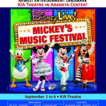 Disney Live! Mickey's Music Festival This September At New Kia Theatre