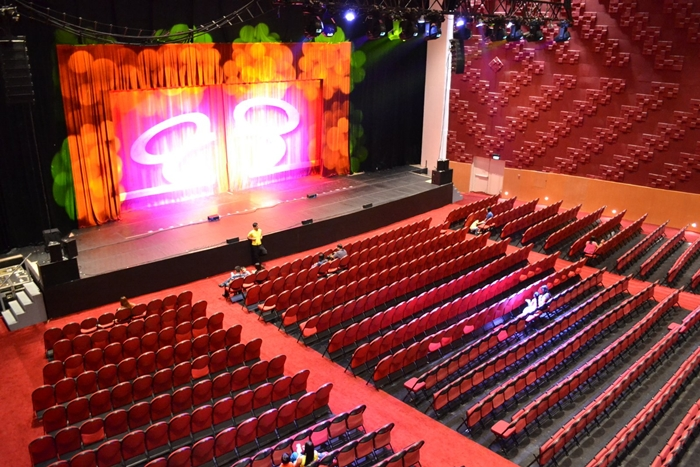 view of Kia Theatre from the top