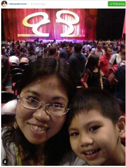Photo of Mommy Janice and Son at Disney Live