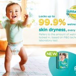New Pampers Baby Dry: 99.9% Dryness Challenge
