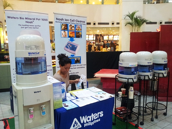 Waters Philippines Mineral Water booth