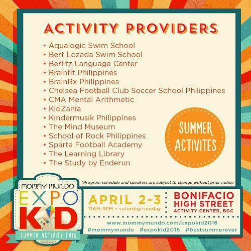 Expo Kid_Activity Providers