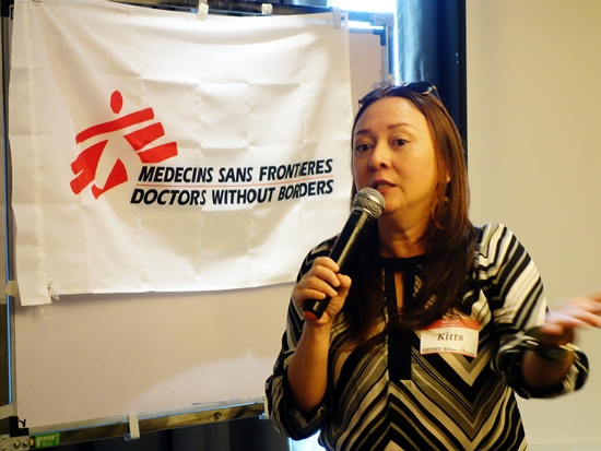 Dr Kitts Sarte of MSF