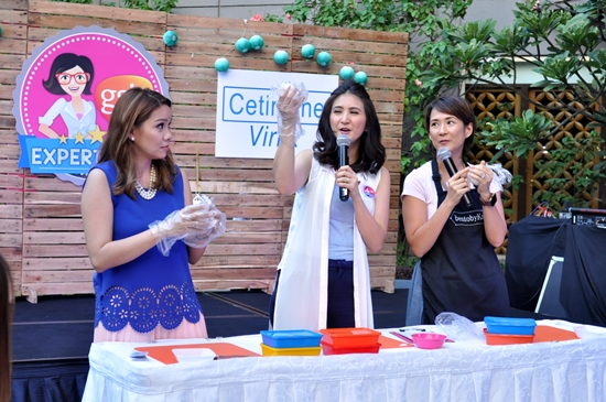 Bento Box Mom Kat Maderazo teaching GSKs Dr. Sheila Chua and Expert Mom Rica Bonifacio
