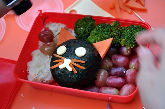 Bento Box filled with fruits and veggies