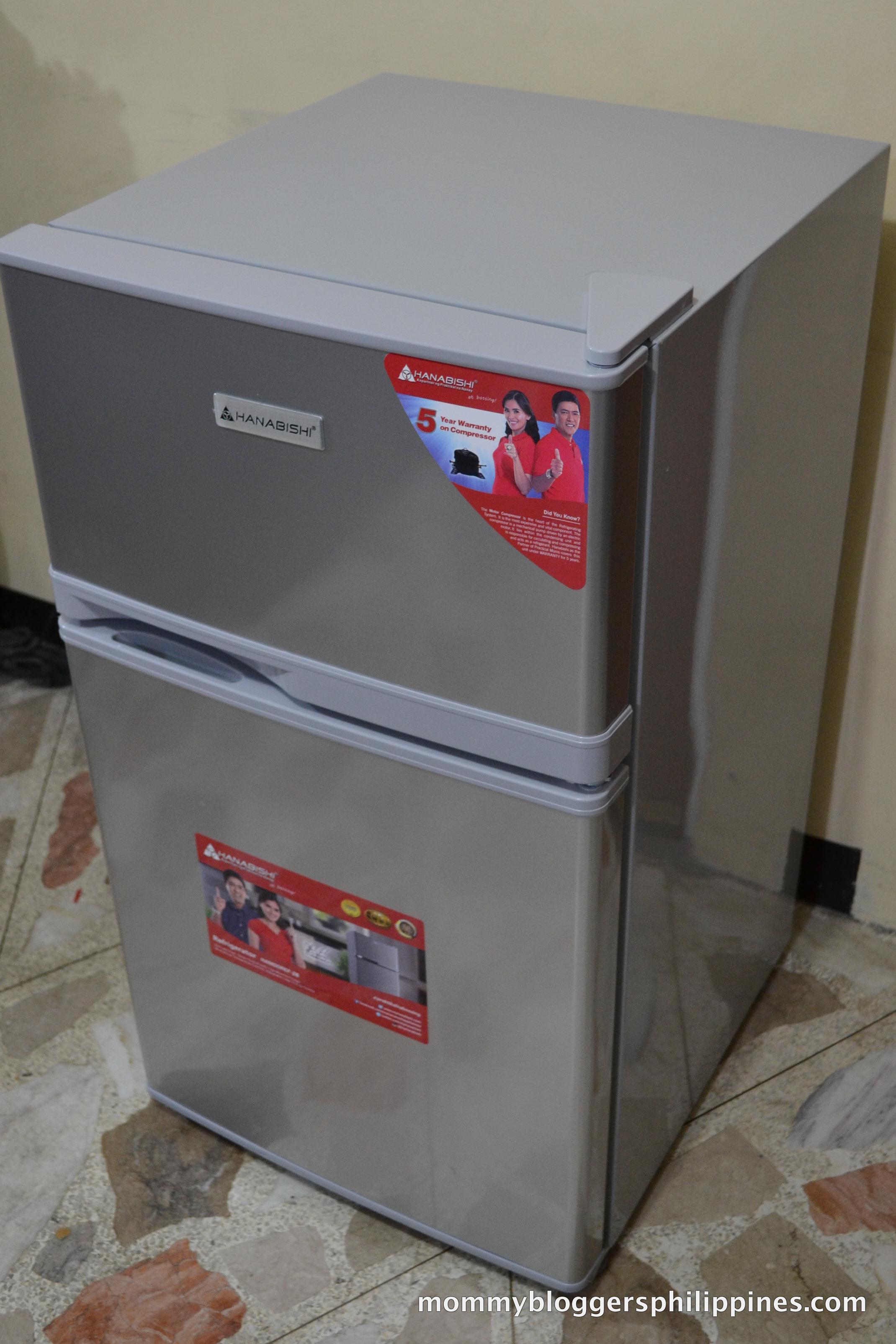 Hanabishi Mini Double Door Refrigerator Compact And