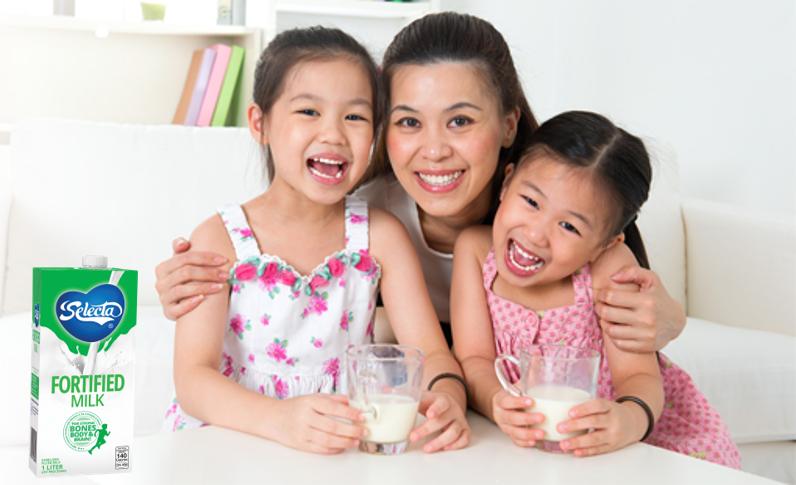 Selecta Milk ensure family nutrition