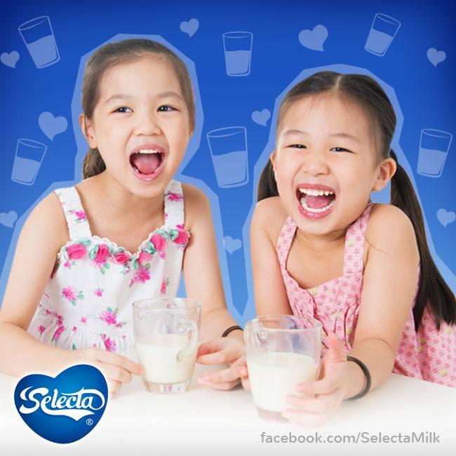 Selecta Milk kids enjoy nutritious milk