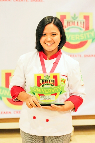 Jolly University 4 grand winner of the main dish - individual category - Bernice Angeline Tenorio of University of Sto. Tomas