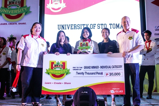 Jolly University 4 grand winner of the main dish - individual category was awarded to Bernice Angeline Tenorio of University of Sto. Tomas