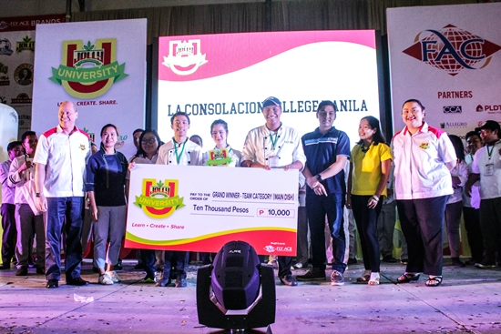 La Consolacion Manila is the Grand Winner of the main dish category (group)
