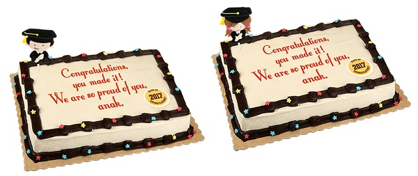 Red Ribbon Graduation Cakes