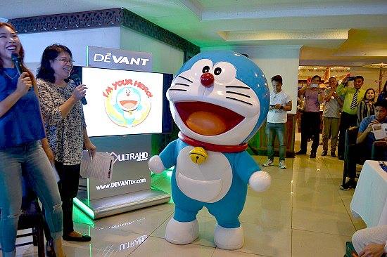 Doraemon presented to the press and bloggers at Saisaki EDSA last July 2017