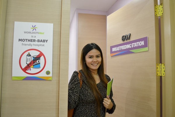 A separate room was dedicated as a breastfeeding station for mothers who wish for privacy.