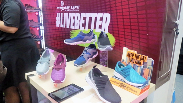 Fitness shoe brand partners Merrell and Sketchers present in the event.