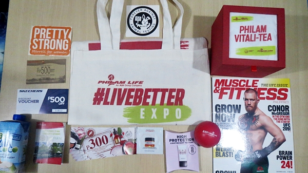 Gifts and freebies given by brand partners to attendees during the expo.