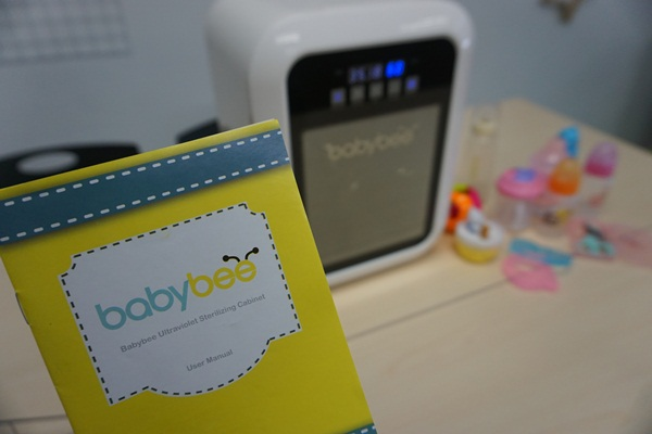 A product catalog/manual is provided and clearly describes how to manually operate the Babybee Sterilizing Cabinet.