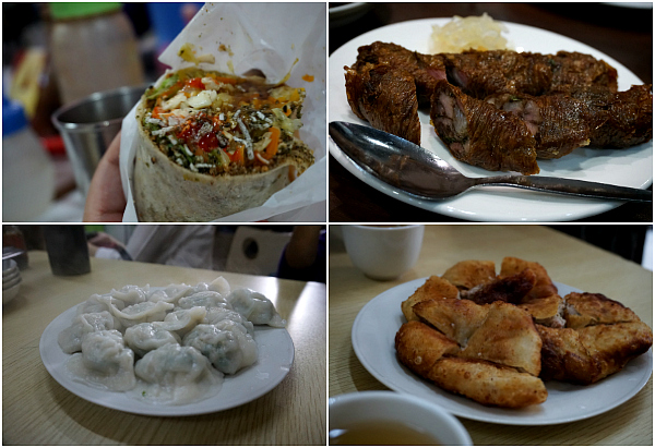 Some of the authentic Chinese food we tasted during the Food Walk : fresh lumpia, kikiam, siomai and flour cake.