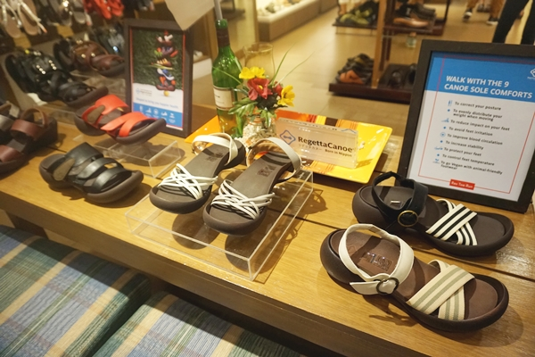 Regetta Canoe sandals at Res|Toe|Run store in Lucky Chinatown Mall